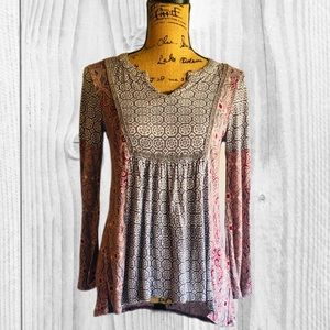 ❣️ Like 🆕! RXB High Low Peasant Tunic Top- Small